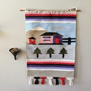 Vintage Made in Mexico Woven Wall Hanging Tapestry